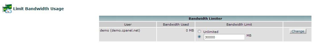 Limit Bandwidth Usage