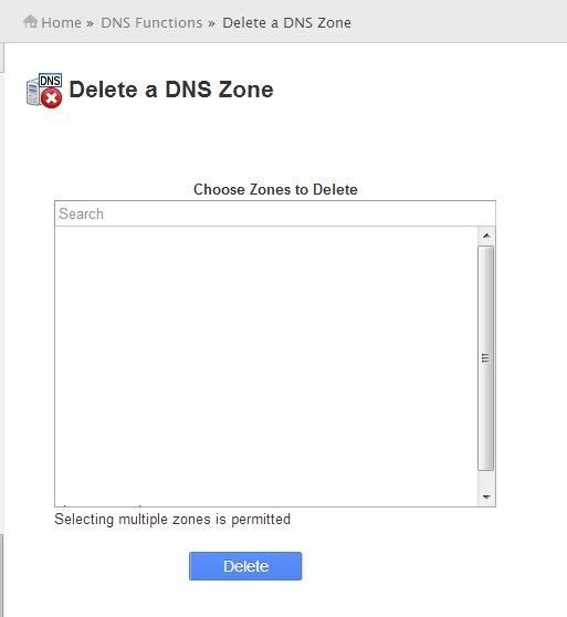 Delete a DNS Zone