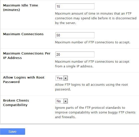 Configuration FTP Server