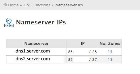 Nameserver IPs
