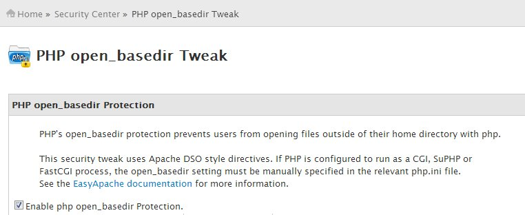 PHP open_basedir Tweak