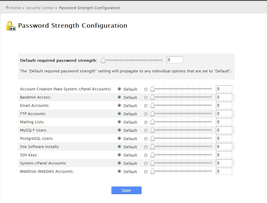 Password Strength Configuration