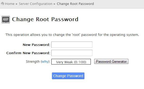 Change Root Password