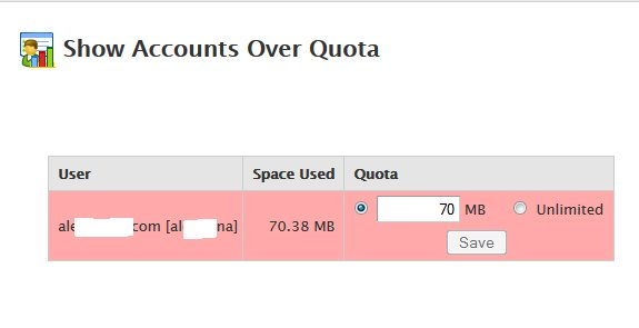 Show Accounts over Quota