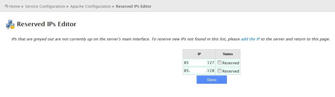 Reserved IPs Editor