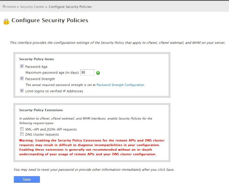 Configure Security Policies