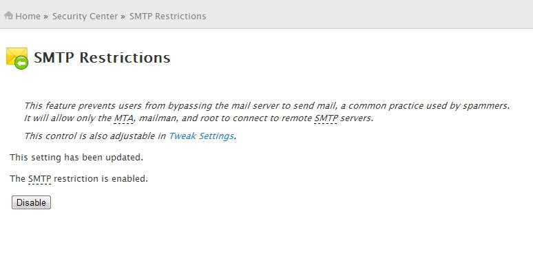 SMTP Restrictions