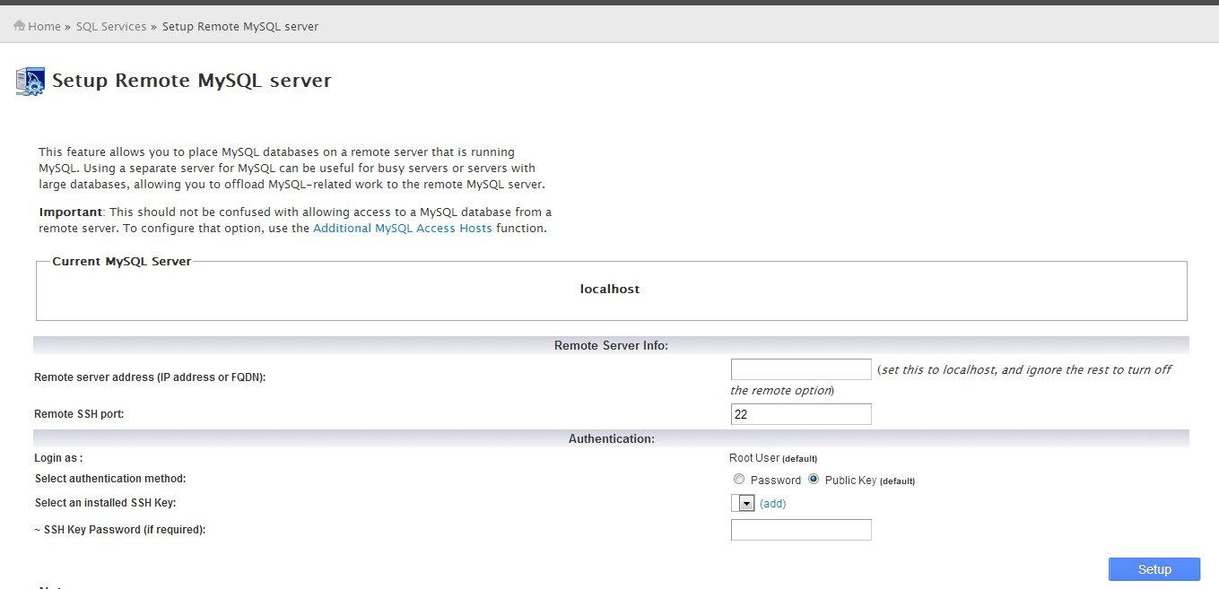 Setup Remote MySQL Server