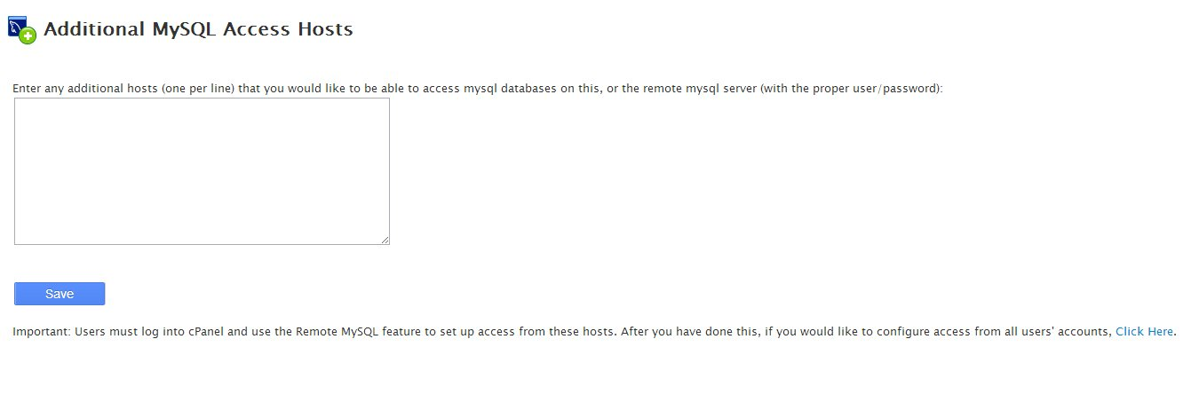 Additional MySQL Access Hosts
