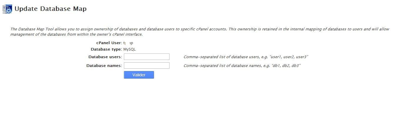 Database Map Tool