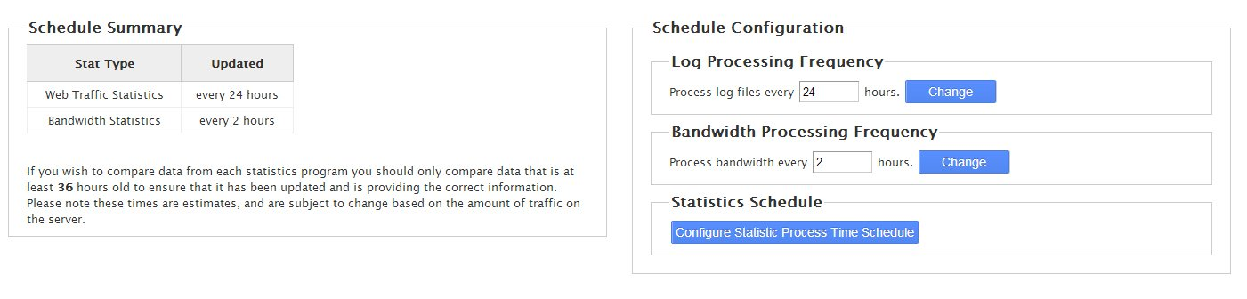 Statistics Software Configuration