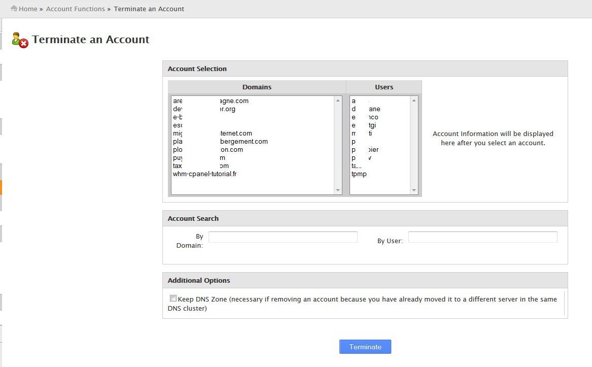 Terminate Multiple Accounts