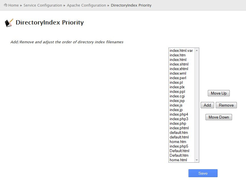DirectoryIndex Priority