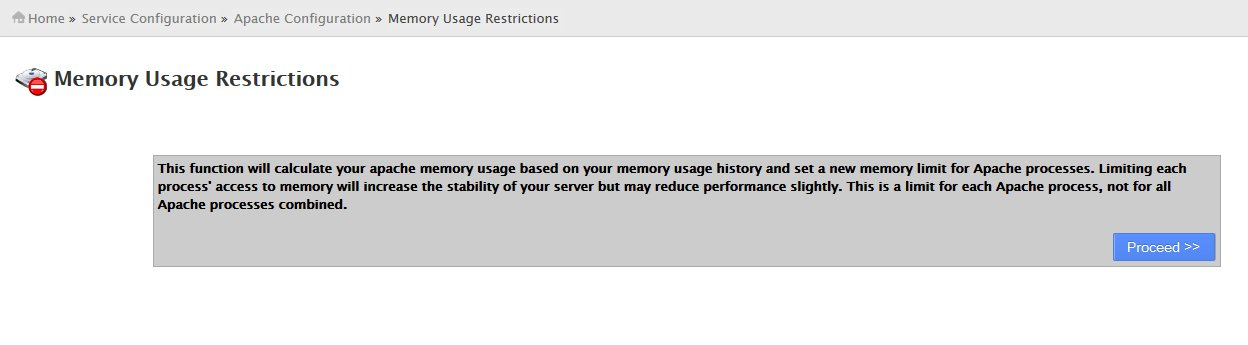 Memory Usage Restrictions