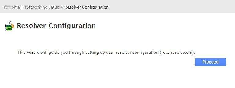 Resolver Configuration